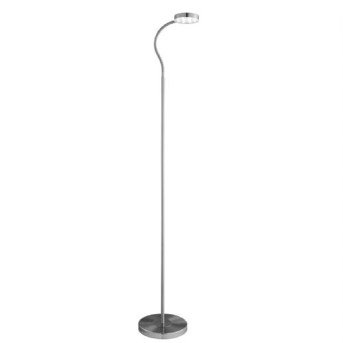 Adjustable Led Round Flexi-Head Floor Lamp, Satin Silver (Double Insulated) Bx1061Ss-17